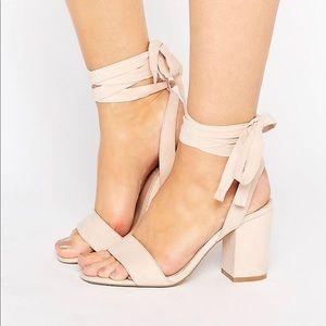 53ae4e9c8b5 ASOS Shoes - ASOS Howling tie leg heeled sandal
